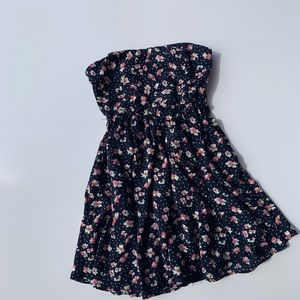 Lucca Couture Strapless Flowered Dress size 4